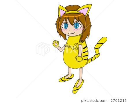 老虎 母老虎 黄色