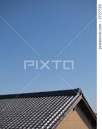 照片素材(图片): 瓦屋顶 平铺 屋顶