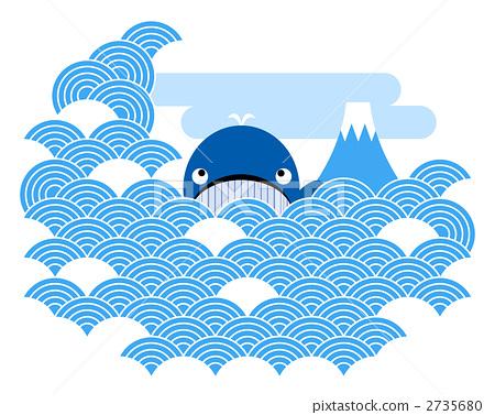 图库插图: 矢量 鲸鱼 简单