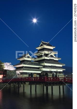 照片素材(图片): 松本城 城堡塔楼 天守阁