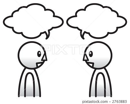 插图素材: 交谈 对话 意见