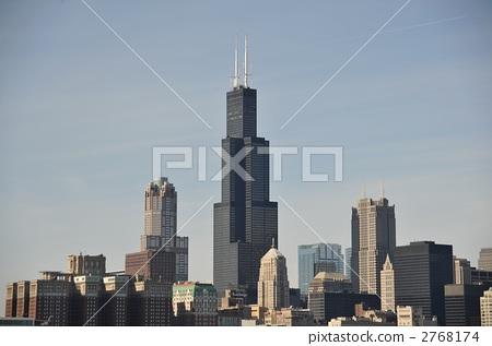 西尔斯大厦 摩天大楼 建筑群