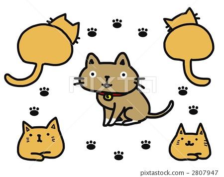 脚印简笔画动物内容图片展示