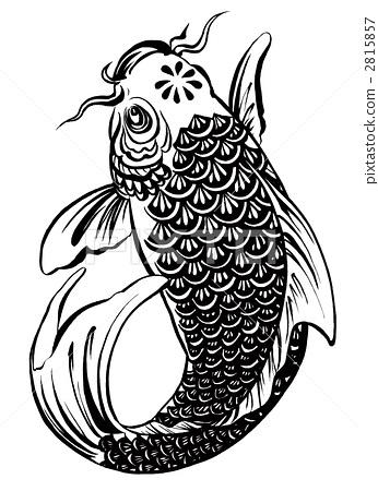 禅宗锦鲤矢量图