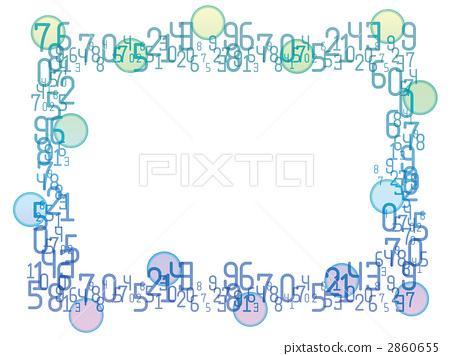 插图 背景_小物 小物 框架 框架 装饰门框 数字 框架  *pixta限定素材