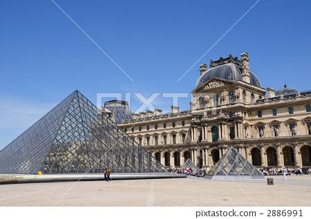 卢浮宫博物馆 罗浮宫 玻璃金字塔