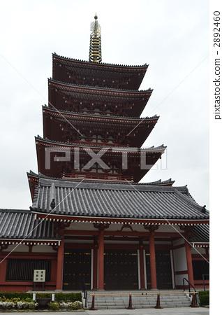 五重塔 东京闹市区 寺院