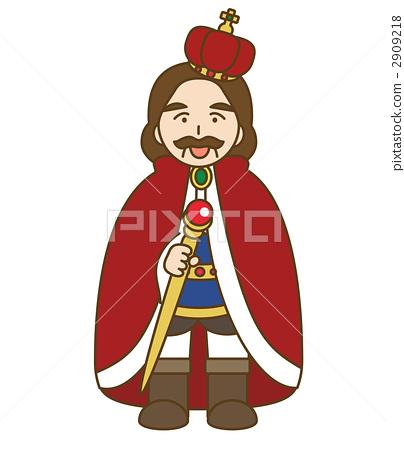 插图素材: 国王 简约 简单