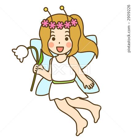 图库插图: 仙子 小精灵 简单