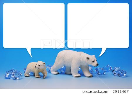 蓝色 动物 父母和小孩