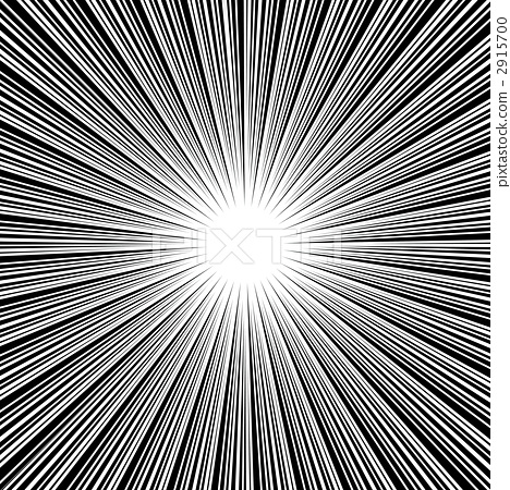 插图素材: 集中线条 闪光 脸红