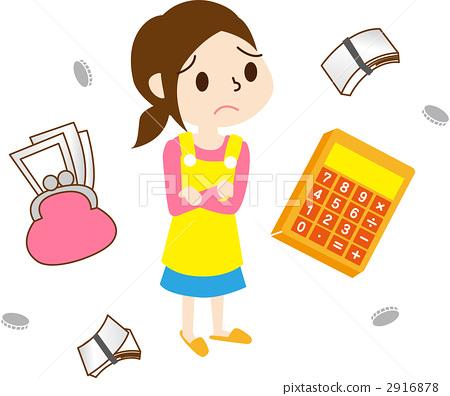 首页 插图 人物 女性 主妇 家庭预算 主妇 家庭主妇  *pixta限定素材
