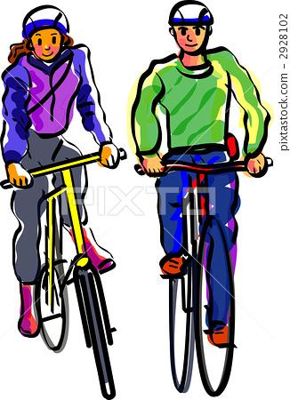 骑自行车 自行车 脚踏车  *pixta限定素材仅在pixta网站,或pixta合作