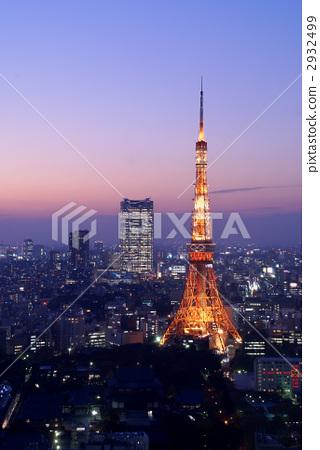 东京铁塔 东京塔 晚景