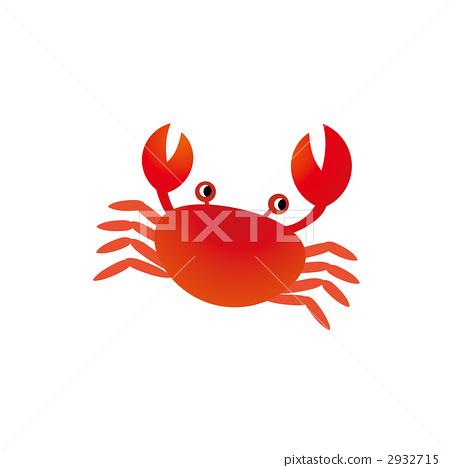 螃蟹 绘画插图 描述