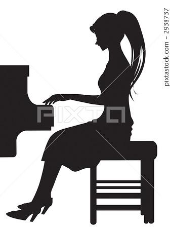 插图 钢琴课 首页 插图 人物 男女 情侣/夫妻 钢琴课  *pixta限定素材
