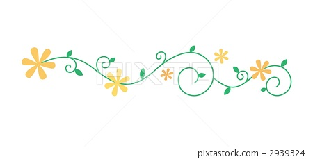 装饰边 树叶 花朵