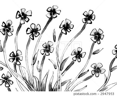 图库插图: 矢量图 编织纹 毛笔绘画