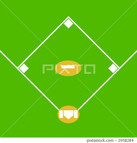 棒球场 stock 插图 - pixta