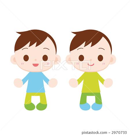 双胞胎中的一人 男孩们