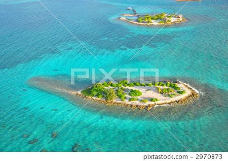 小岛 鸟瞰图 航拍照片