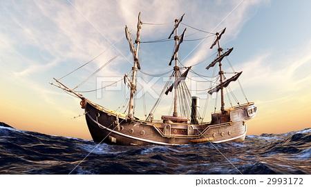 插图素材: 水手 帆船 船舶