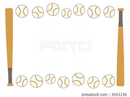 插图素材: 棒球用品 棒球设备 外框