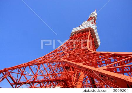 天线杆 东京铁塔 无线电塔