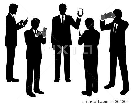 智能手机 生意人 商人
