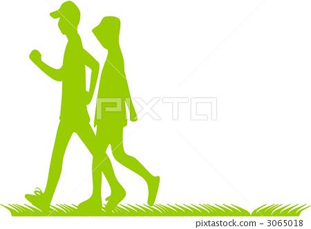 姿势_表情_动作 行为_动作 行走 行走 步行 漫步  *pixta限定素材仅在