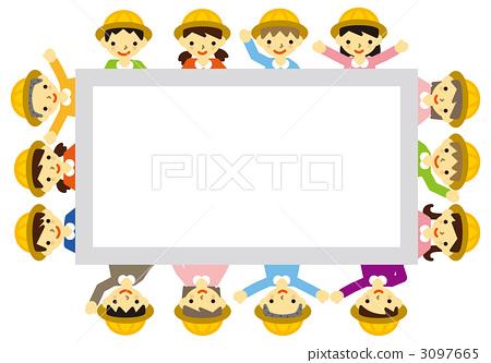 框架 幼儿园儿童 留言板