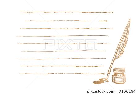 信纸 书写纸 羽毛笔