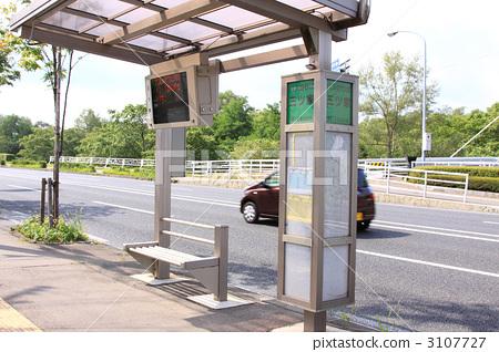 公共汽车站 公共汽车站 公交车站 公车亭  *pixta限定素材仅在pixta