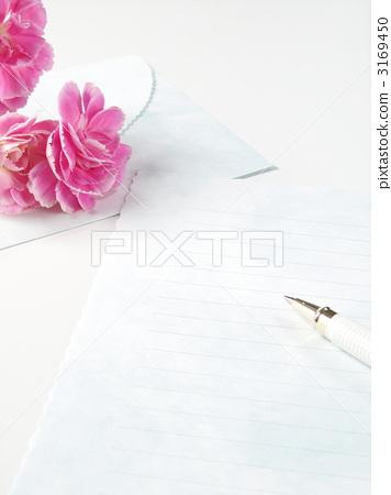 首页 照片 植物_花 花 康乃馨 信件 信纸 书写纸  *pixta限定素材仅