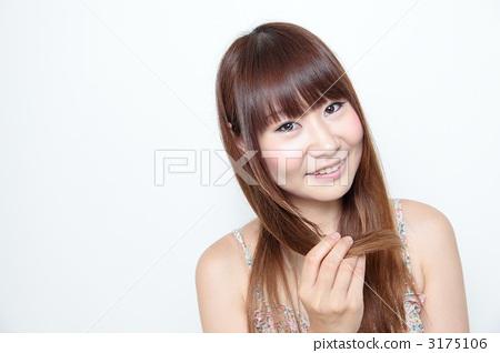 长头发 女人 女性图片