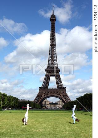 巴黎 艾菲尔铁塔 埃菲尔铁塔-图库照片
