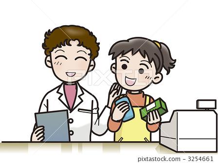插图素材: 制药业 药剂师 药房