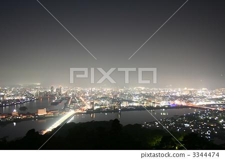 图库照片: 五台山 夜景 四国岛