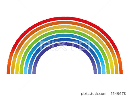 彩虹 彩虹色的 渐变