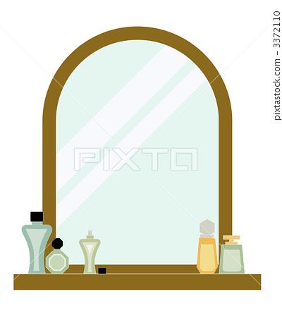 插图素材: 化妆师 梳妆台 镜子