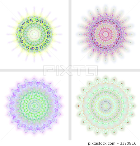 图库插图: 万花筒 同心圆 计算机图形