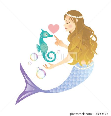 兽人 美人鱼 美人鱼 人鱼 计算机图形  *pixta限定素材仅在pixta网站