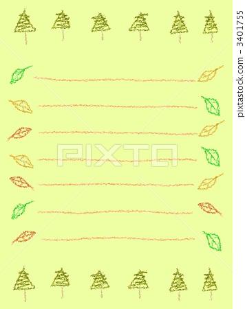 插图 活动/节日 圣诞节 圣诞树 书写纸 信纸 背景  *pixta限定素材仅