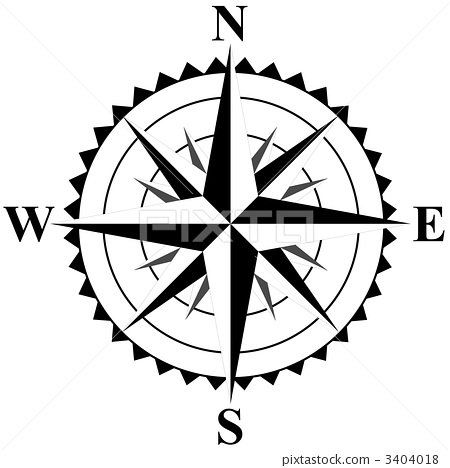 欧式线条罗盘图