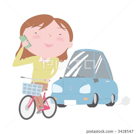 插图素材: 危险驾驶 手机 移动