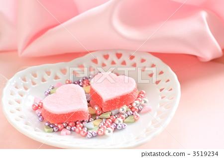 银色糖果 粉色 情人节图片
