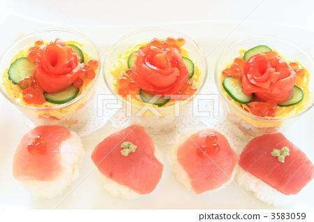 手鞠寿司 食物 日本菜肴-图库照片