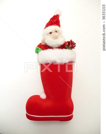 圣诞老人 圣诞靴 红色的靴子
