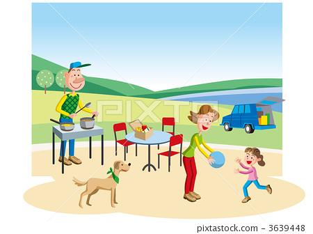 插图素材: 家庭 家族 家人