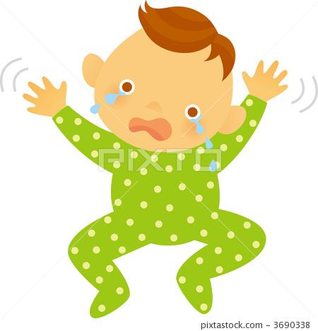 人类 动物宝宝 哭
